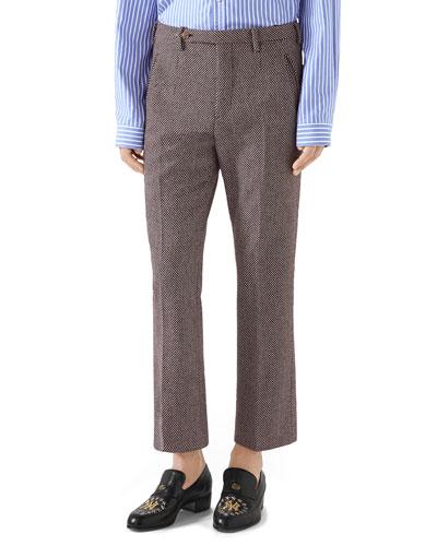 Men's Straight-Leg Ankle Trousers