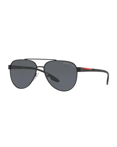 ac0e559a5ce Quick Look. Prada · Men s Metal Aviator Sunglasses ...