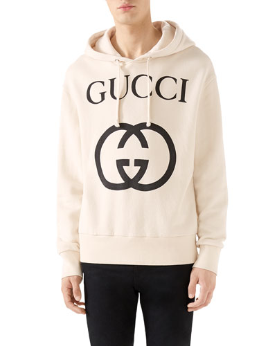 b6f9f56e1f0 Quick Look. Gucci · Men s GG Logo Hoodie Sweatshirt