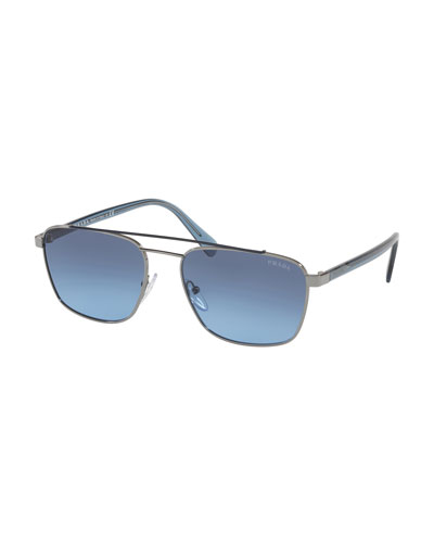 Men's Square Metal Aviator Sunglasses - Gradient Lenses