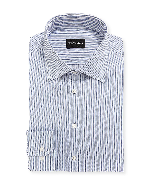 Striped Barrel-Cuff Dress Shirt