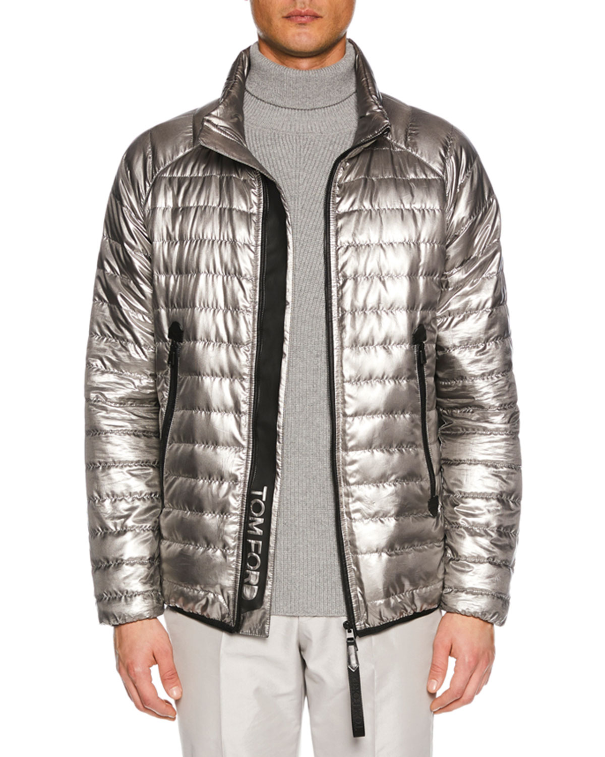 Men's Metallic Puffer Jacket