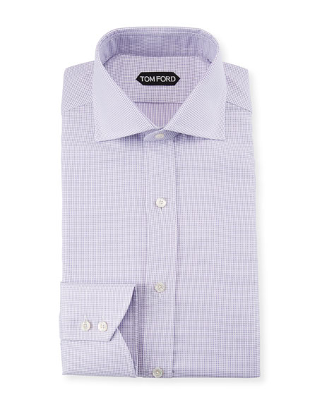 TOM FORD Men's Slim-Fit Check Dress Shirt