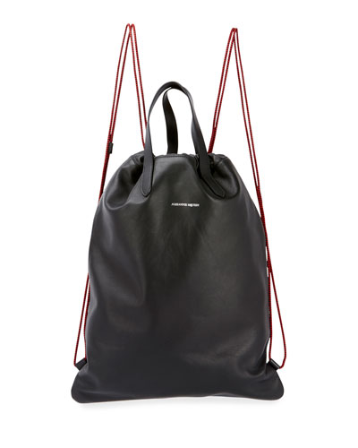 Quick Look. Alexander McQueen · Men s Leather Drawstring Sling Backpack 4cb6ce3d043cc