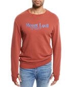 FRAME Men's Mount Lyell Crewneck Cotton Sweatshirt