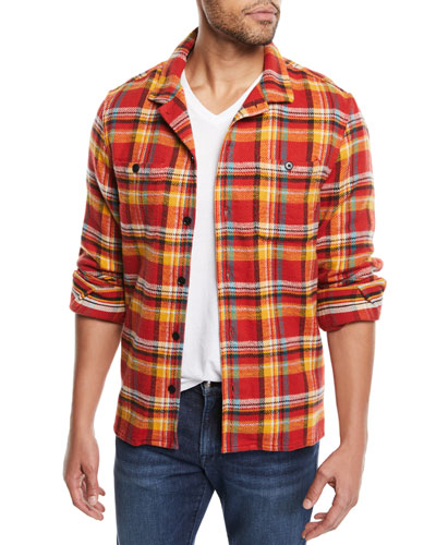 bb088adcfd21 Quick Look. FRAME · Men's Button-Front Plaid Flannel Shirt Jacket.  Available in Red
