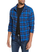 FRAME Men's Button-Front Long-Sleeve Plaid Work Shirt w/