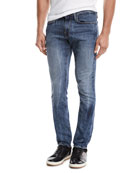 FRAME Men's L'Homme Slim Straight-Leg Jeans