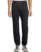 FRAME Men's Camp Cotton-Blend Sweatpants