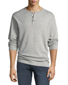 FRAME Men's Heathered Jersey Henley Shirt