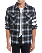 Joe's Jeans Men's Aki Japanese Stripe Overshirt