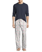 Bedhead Men's Family Holiday Cover Art Pajama Set