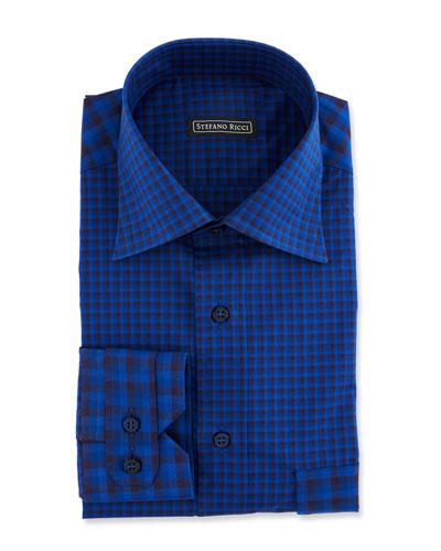 Men's Paneled Check Sport Shirt