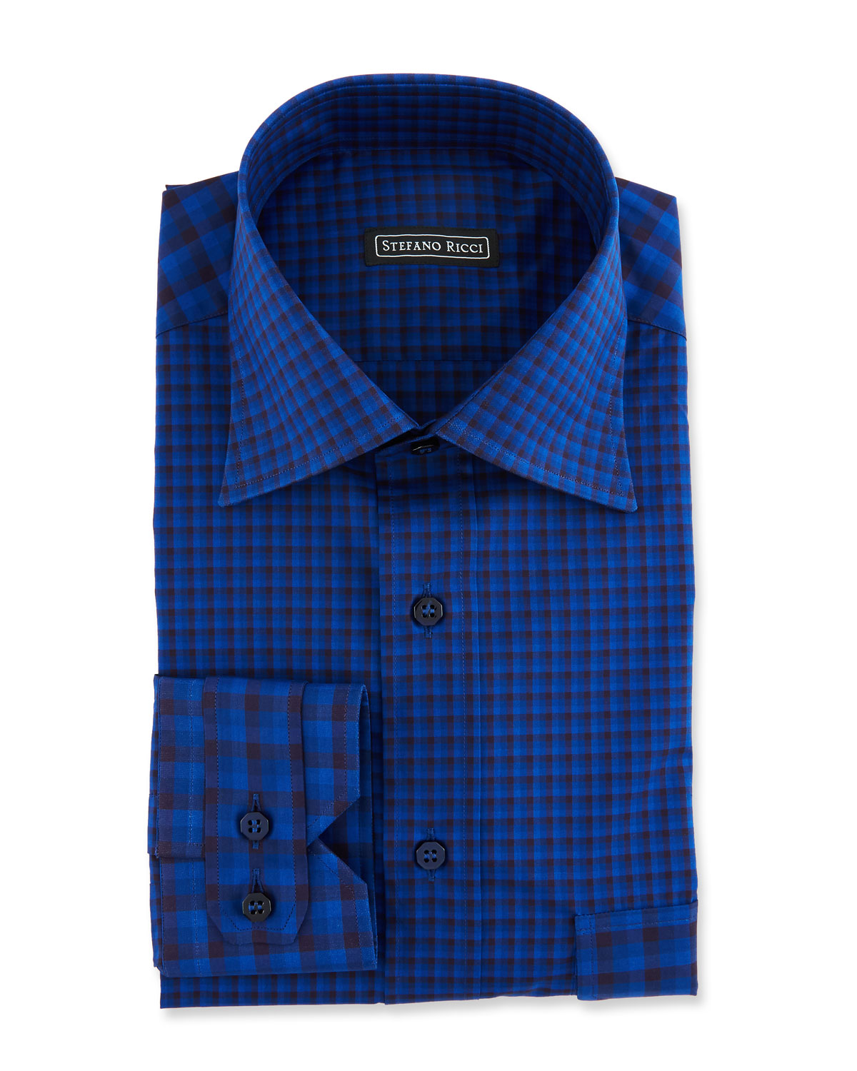 Men's Paneled Check Sport Shirt