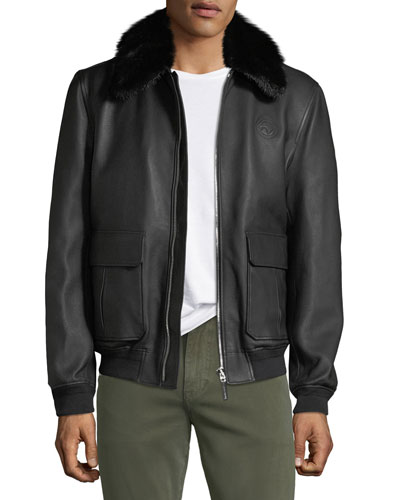 503336dc7 Quick Look. Stefano Ricci · Men's Fur-Collar Leather Jacket