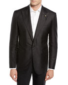 Stefano Ricci Men's Solid Textured Dinner Jacket