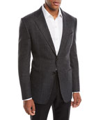 TOM FORD Men's O'Connor Wool/Cashmere Houndstooth Blazer Jacket