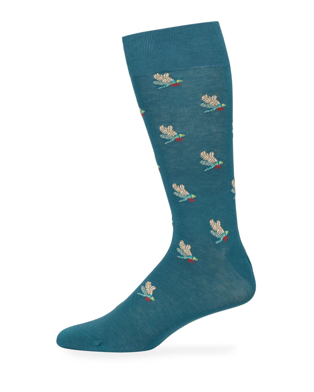 Men's Dreamer Jacquard Cotton-Blend Socks