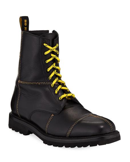 Ovadia Men's Panic Leather Combat Boots