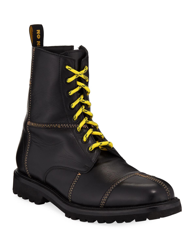 Men's Panic Leather Combat Boots