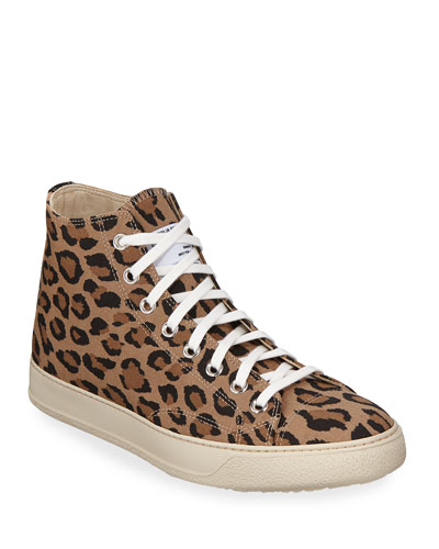 Men's Type 02 Strummer Leopard High-Top Sneakers