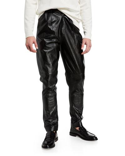 Men's Formal Lamb Leather Trousers