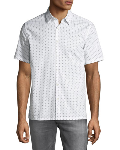 Men's Murray Polka Dot Short-Sleeve Sport Shirt