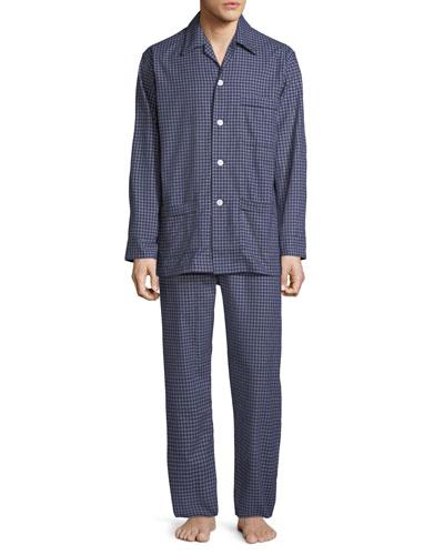 Men's Braemar 32 Check Cotton Pajamas