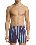 Derek Rose Men's Royal 210 Striped Boxers