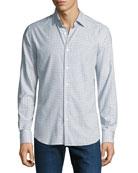 Neiman Marcus Men's Medium Check Cotton Sport Shirt