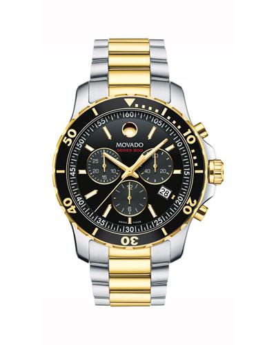 Men's Series 800 Chronograph Watch with 2-Tone Bracelet