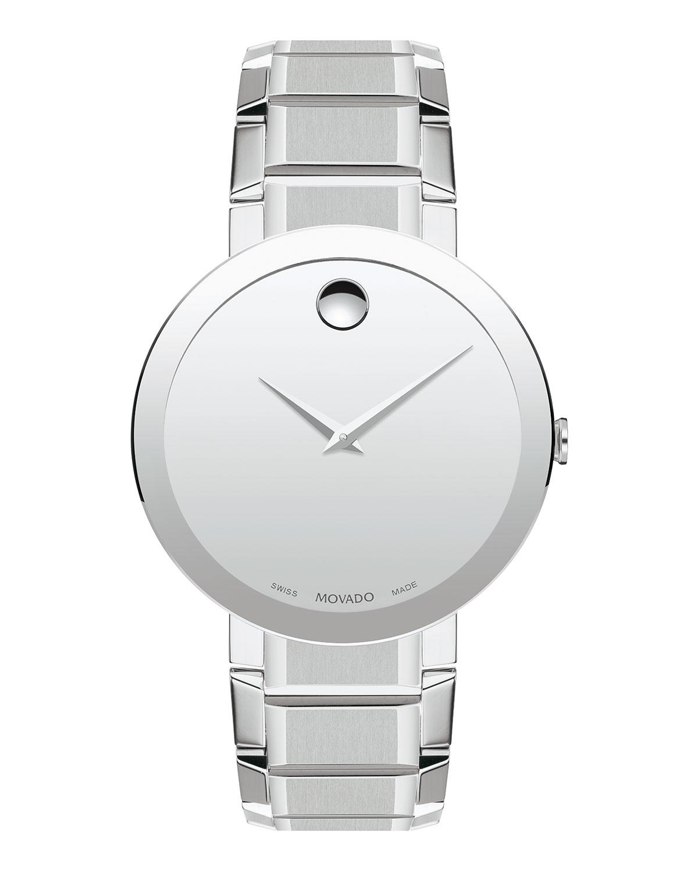 Men's Sapphire Stainless Steel Bracelet Watch