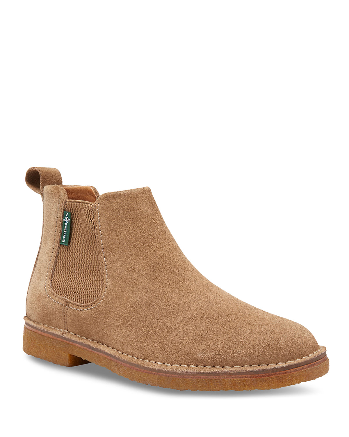 EASTLAND Men'S Edison 1955 Suede Chelsea Boots in Light Brown