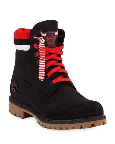 Men's Chicago Bulls Work Boots