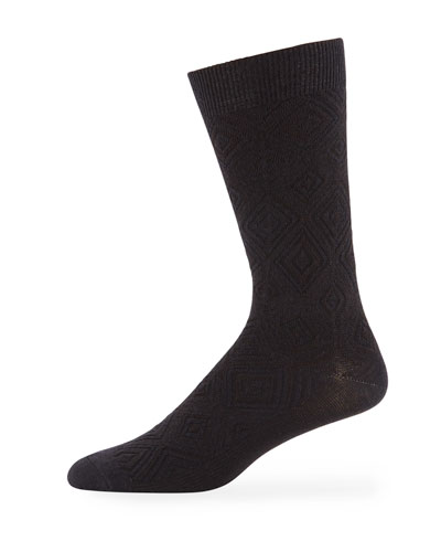 Ace & Everett Men's MB Textured Wool-Blend Socks