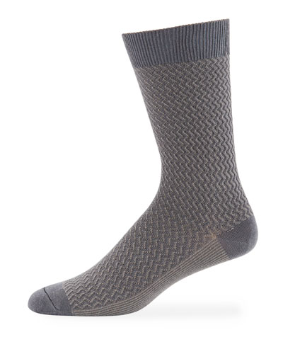 Ace & Everett Men's DT Textured Wool-Blend Socks