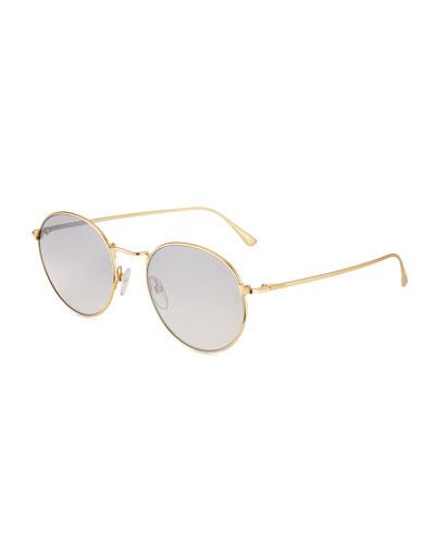 29fbc074f94f Quick Look. TOM FORD · Men s Ryan Round Metal Sunglasses