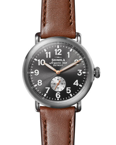 Men's 41mm Runwell Watch with Titanium Case
