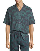 Desmond & Dempsey Men's Byron Cuban Short-Sleeve Shirt