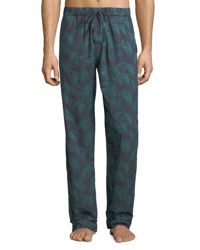 Men's Byron Palm Leaf-Print Lounge Pants