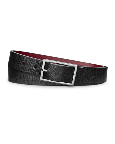 Men's Latigo Reversible Rectangular-Buckle Belt