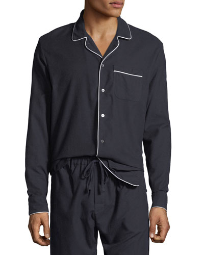 Men's Contrast-Piping Lounge Shirt