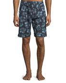 Desmond & Dempsey Men's Floral-Print Lounge Shorts
