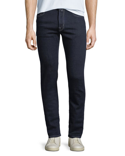 Men's Dark-Wash Stretch-Denim Jeans