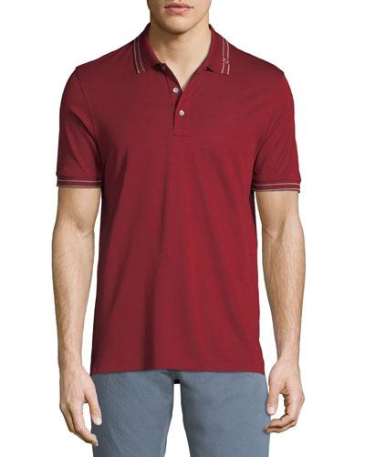 Men's Tipped Cotton Polo Shirt