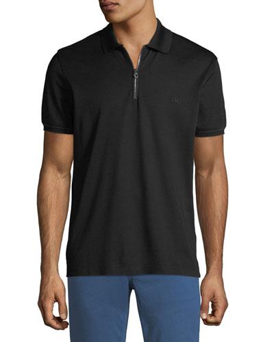 Men's Zip Polo Shirt