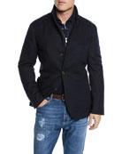 Brunello Cucinelli Men's Outerwear Coat with Bib