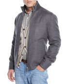 Brunello Cucinelli Men's Cashmere Bomber Jacket