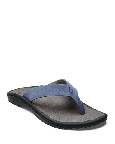 Men's Ohana Hookahi Faux-Suede Flip-Flop Sandals