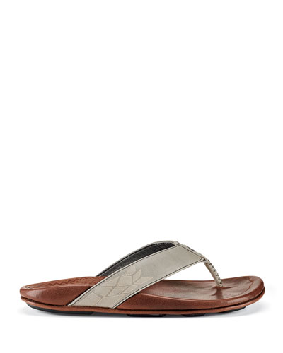 Men's Kulia Leather Thong Sandals